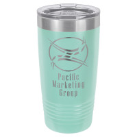 Personalized Tumblers - 20oz Teal Custom Engraved Tumbler Mug