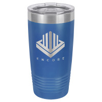Personalized Tumblers - 20oz Royal Blue Custom Engraved Tumbler Mug