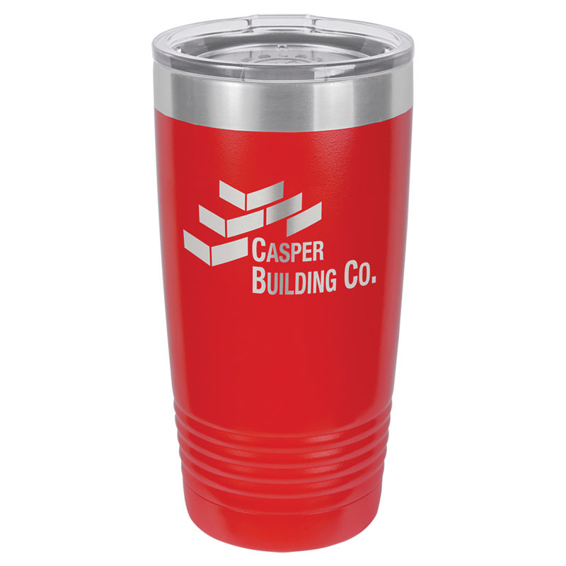Personalized Tumbler 20oz Red Custom Engraved Polar Camel Insulated Thermal Mug