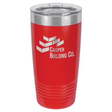 Personalized Tumblers - 20oz Red Custom Engraved Tumbler Mug