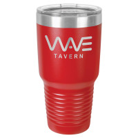 Personalized Tumblers - Large 30oz Red Laser Engraved Tumbler Mug