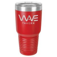 Personalized Tumblers - Large 30oz Red Laser Engraved Tumbler Mug