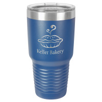 Personalized Tumblers - Large 30oz Royal Blue Laser Engraved Tumbler Mug