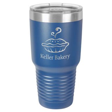 Personalized Tumblers - Large 30oz Royal Blue Laser Engraved Tumbler Mug