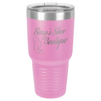 Personalized Tumblers - Large 30oz Light Pruple Laser Engraved Tumbler Mug