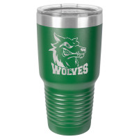 Personalized Tumblers - Large 30oz Green Laser Engraved Tumbler Mug