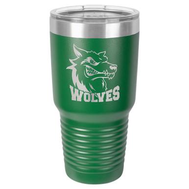Personalized Tumblers - Large 30oz Green Laser Engraved Tumbler Mug