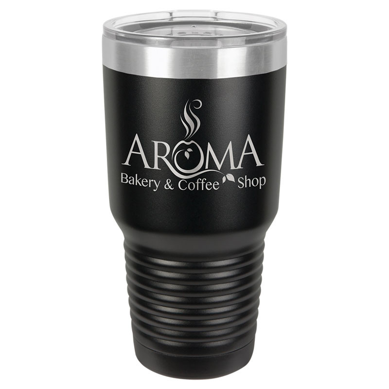 Personalized Tumbler 30oz Black Custom Engraved Polar Camel Insulated Thermal Mug