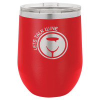 Personalized Tumblers - 12oz Red Laser Engraved Stemless Wine Glass Tumbler