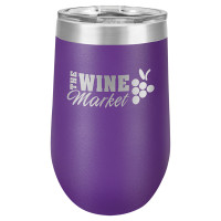 Personalized Purple Tumbler - 16oz Stemless Wine Glass Tumblers