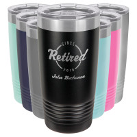 Personalized Retirement Gift - Engraved Tumbler (20oz)