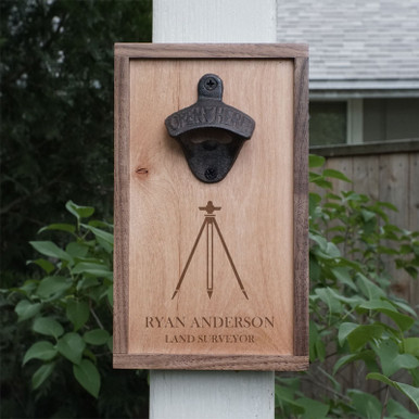 Bottle Opener Surveyor Gift - Personalized