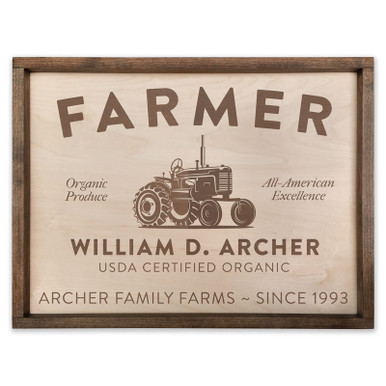 Custom Farmer Wooden Sign