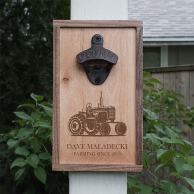Bottle Opener Farmer Gift - Personalized