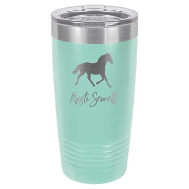 Engraved Horse Lover Tumbler Mug