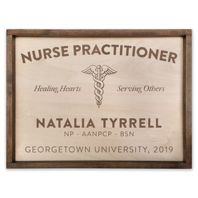 Custom Nurse Practitioner Wooden Sign
