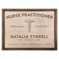 "Custom Nurse Practitioner Wooden Sign - 18"" x 24"""