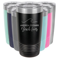 Beach Lover Custom Engraved Tumbler