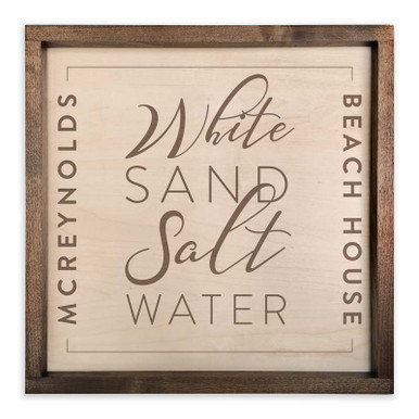 Personalized Wooden Beach House Sign