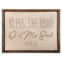 "Psalm 103 Plaque - Bless the Lord O My Soul - 18"" x 24"""