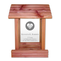 Personalized Social Worker Gift - Custom Engraved Bird Feeder