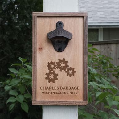 Custom Engraved Engineer Gift Bottle Opener