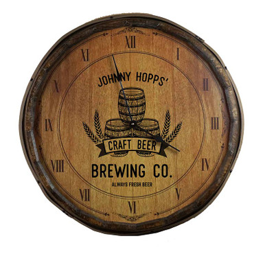 The Craft Brewery Quarter Barrel Clock