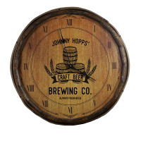 Craft Beer Brewery Quarter Barrel Clock Personalized