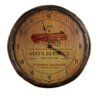 The Cabernet Sauvignon Quarter Barrel Clock