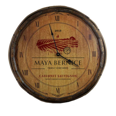 The Cabernet Sauvignon Quarter Barrel Clock