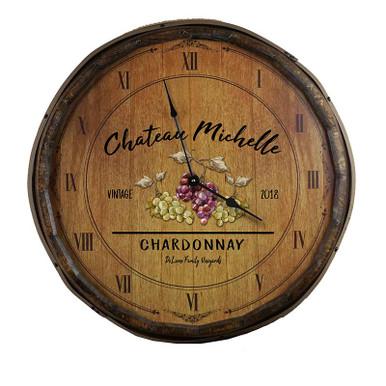 The Chardonnay Quarter Barrel Clock
