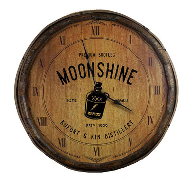 The Moonshine Quarter Barrel Clock