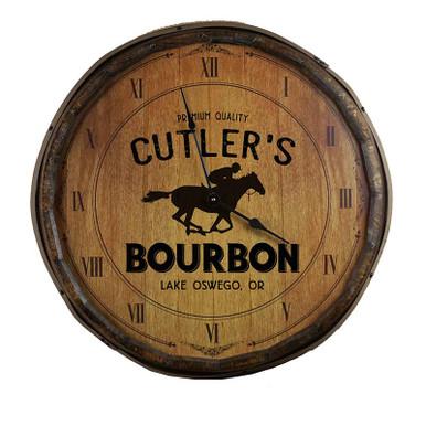 The Distillery Quarter Barrel Clock