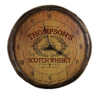 The Scotch Whisky Quarter Barrel Clock