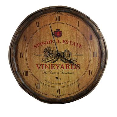 Quarter Barrel Clock