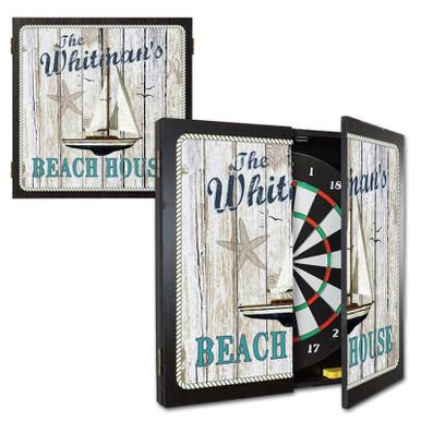 Beach House Dart Board Cabinet