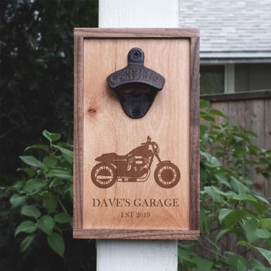 Custom Bottle Opener - Motorcycle - Personalized