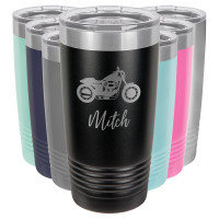 Personalized Motorcycle Tumbler (Script)