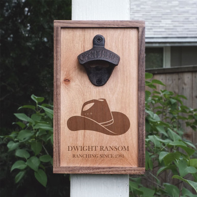 Personalized Cowboy Hat Bottle Opener