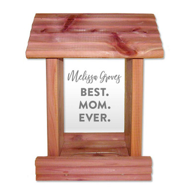 Gorgeous bird feeder custom engraved with text of your choice
