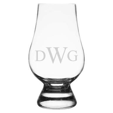 Personalized Glencairn Whiskey Glass - Monogram Initials
