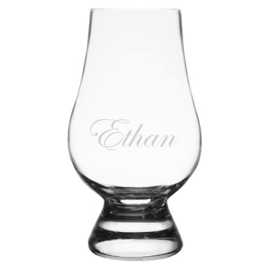 Personalized Glencairn Whiskey Glass - Edwardian