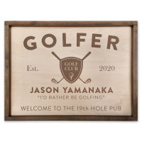 Personalized Golfer Sign