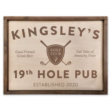 Personalized 19th Hole Pub Golf Sign