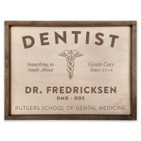 Personalized Wooden Dentist Sign