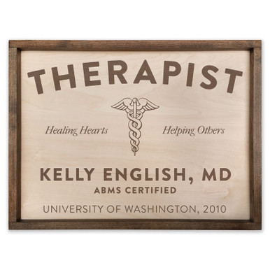 Personalized Wooden Therapist/Counselor Sign