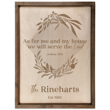 Personalized Scripture Plaque - As for Me and My House (Square)