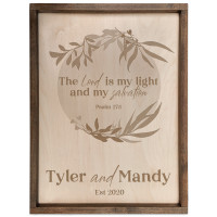 Personalized Scripture Plaque - Psalm 27:1 (Circle)
