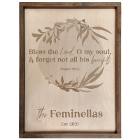 Personalized Scripture Plaque - Psalm 103:2 (Circle)