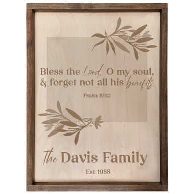 Personalized Scripture Plaque - Psalm 103:2 (Rectangle)